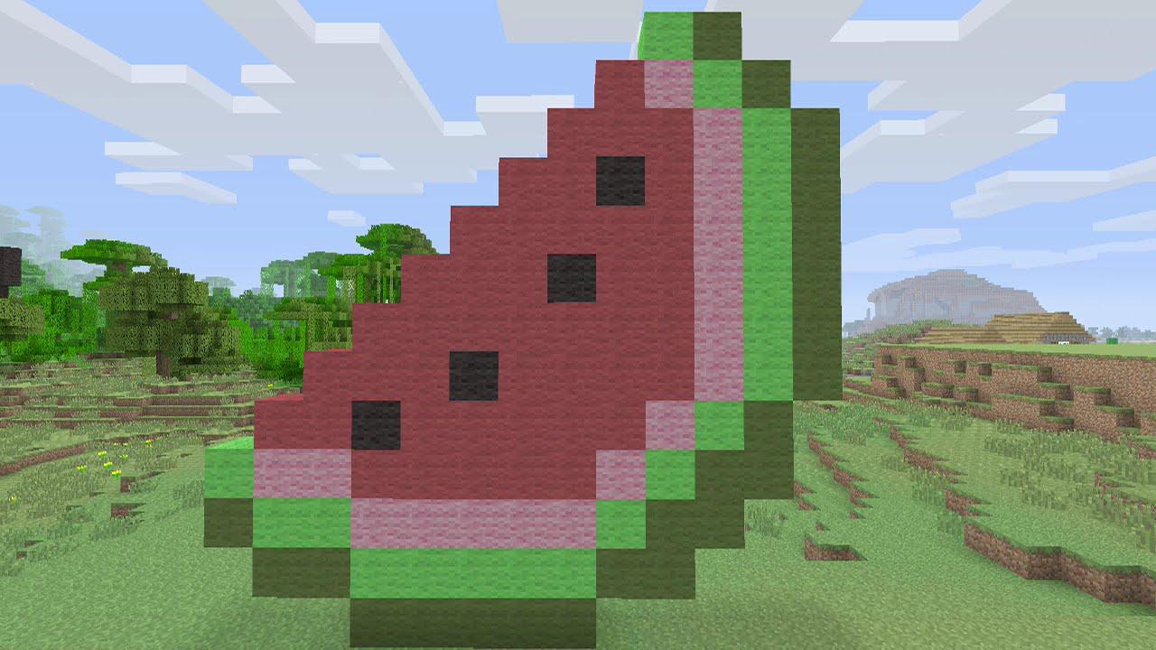 Assez Minecraft Tutorials - Watermelon Pixel Art - YouTube WI72