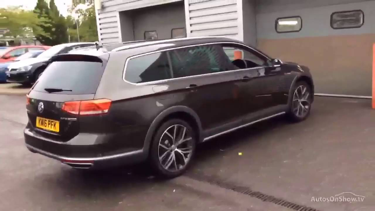 volkswagen passat alltrack tdi bluemotion tech motion brown  youtube