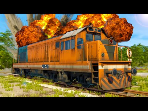 I Crashed My Train and Caused the Biggest Explosion In VR! - Derail Valley Overhauled VR |