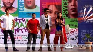 "Star Cast of upcoming Punjabi Movie ""Control Bhaji Control"" @ LPU"