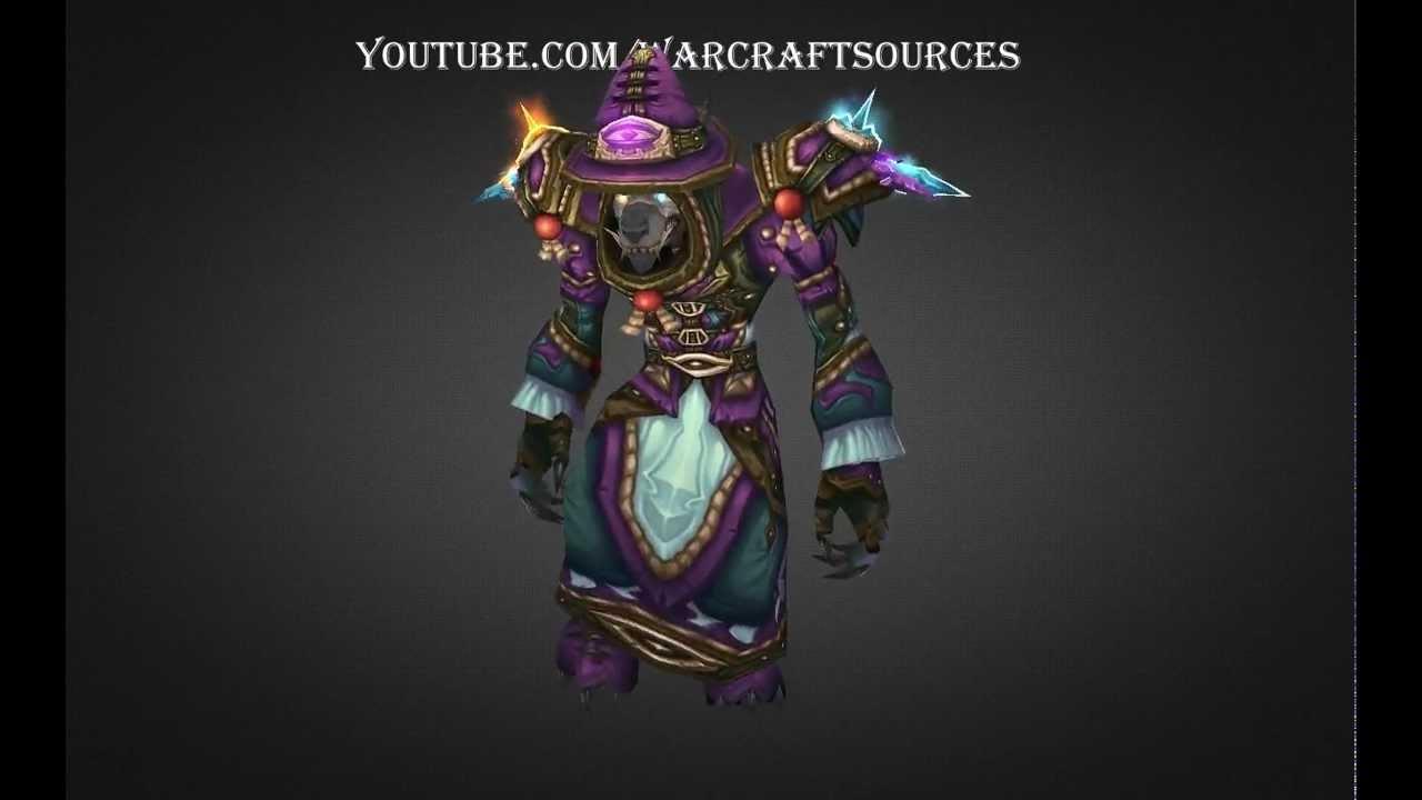 Worgen Mage Challenge Mode Set Elemental Triad Armor