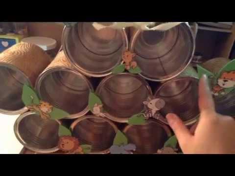 Reciclado de latas de leche youtube for Budas grandes para jardin