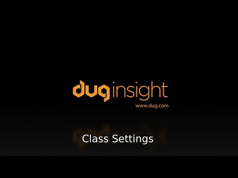 DUG Insight How-To: Using class settings to accurately compare horizons