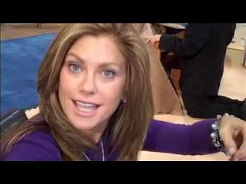 Kathy Ireland at the CHA show in Anaheim, CA