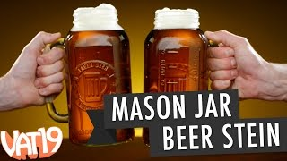 Gigantic Mason Jar Beer Stein