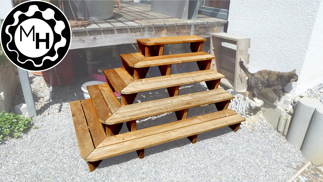 Building An Outdoor Patio Stair Youtube | Making Steps For Decking