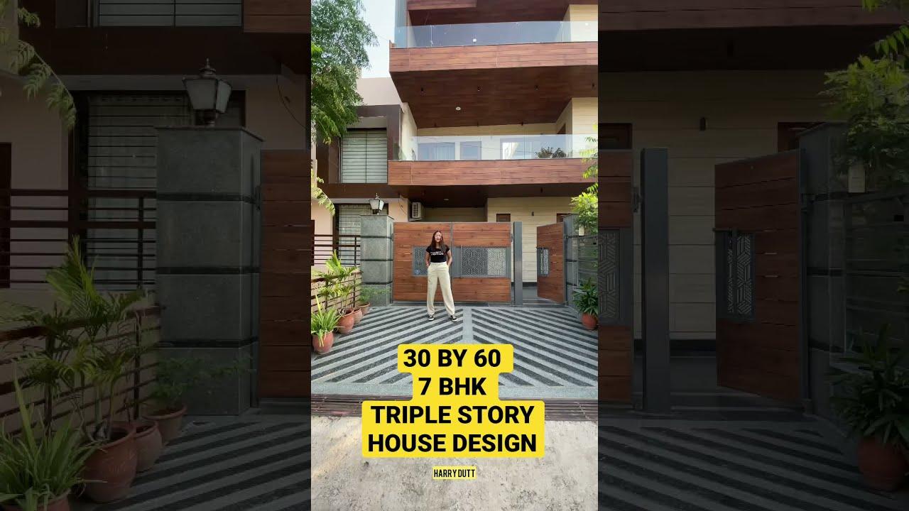 ( 30 * 60 ) 200 YARD Luxury 7 BHK HOUSE DESIGN PLAN | 8 MARLA BEST HOUSE CONSTRUCTION IDEA #shorts