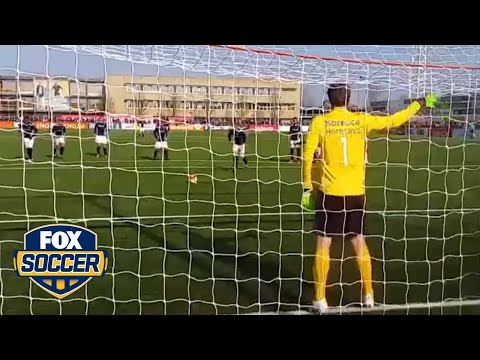Edwin van der Sar comes out of retirement and stops a PK