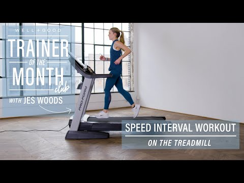 Speed Interval Workout On The Treadmill | Trainer Of The Month Club | Well+Good