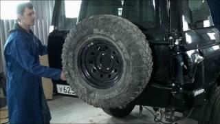 Калитка запасного колеса УАЗ Патриот 2015   трейлер