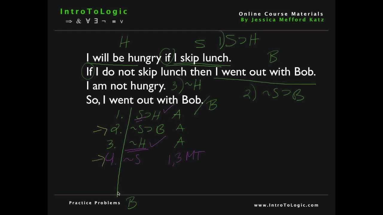 how to solve symbolic logic problems