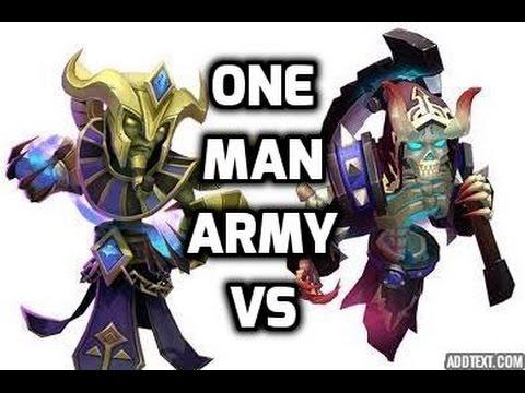 Castle Clash One Man Army Reaper Vs. Immortep