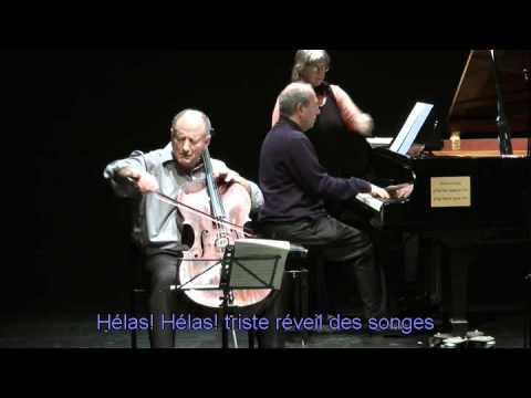 Après un rêve Op 7, No 1  Gabriel Fauré  Cello Micha Haran