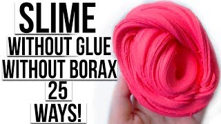 HOW TO MAKE SLIME WITHOUT GLUE AND WITHOUT BORAX 25 WAYS!!!! 😱 ANITA STORIES ASMR