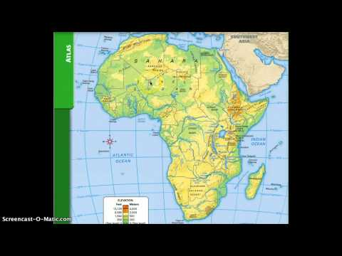 Map Of Africa Physical Geography.Physical And Political Geography Of Africa Youtube