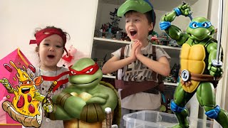 Черепашки ниндзя Огромная коробка Ninja Turtles боевое снаряжение, фигурки, коллекция Nickelodeon