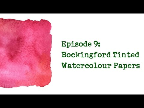 Product Review 9 - Bockingford Tinted Watercolour Papers (Oatmeal, Cream, Blue, Eggshell and Grey)
