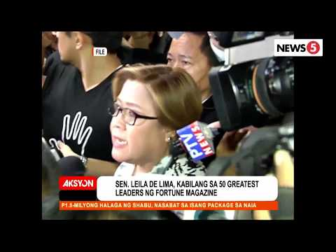 Sen  de Lima, pasok sa 50 Greatest Leaders ng Fortune Magazine