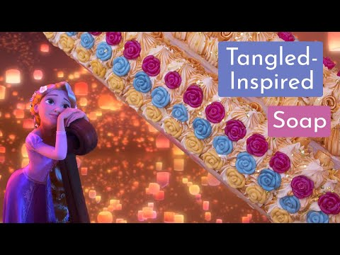 making-a-fan-design---tangled-inspired-soap---floating-lights-|-royalty-soaps