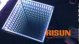 3D illusive Mirror led dance floor! See how straight the lines are!