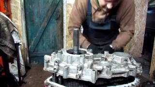 Мицубиси Поджеро ремонт раздаточной коробки (укорачиваю цепь)