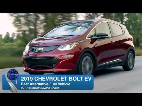 Best Alternative Fuel Vehicle: 2019 Chevrolet Bolt EV - AutoWeb Buyer's Choice Award Winner