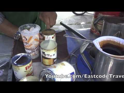 iced coffee making technique old style Thailand