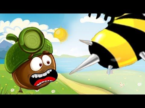 Доктор Желудь и злые осы. Выживание в лесу в mult игре Doctor Acorn
