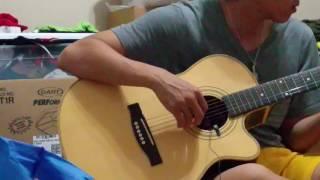Clip demo pickup guitar tự chế từ tai nghe.