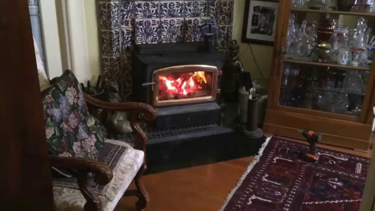 hearth mount wood burning stove draft problem solved youtube