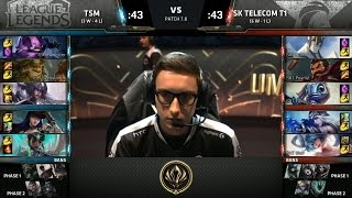 TSM vs SKT - 2017 MSI Group Stage - Team SoloMid vs SK Telecom T1