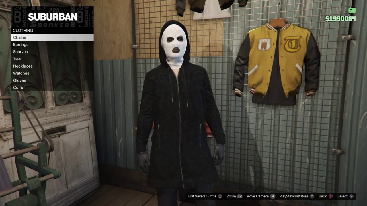 Grand Theft Auto 5 Online Ghost Face Killer from Scream Outfit / Look  tutorial