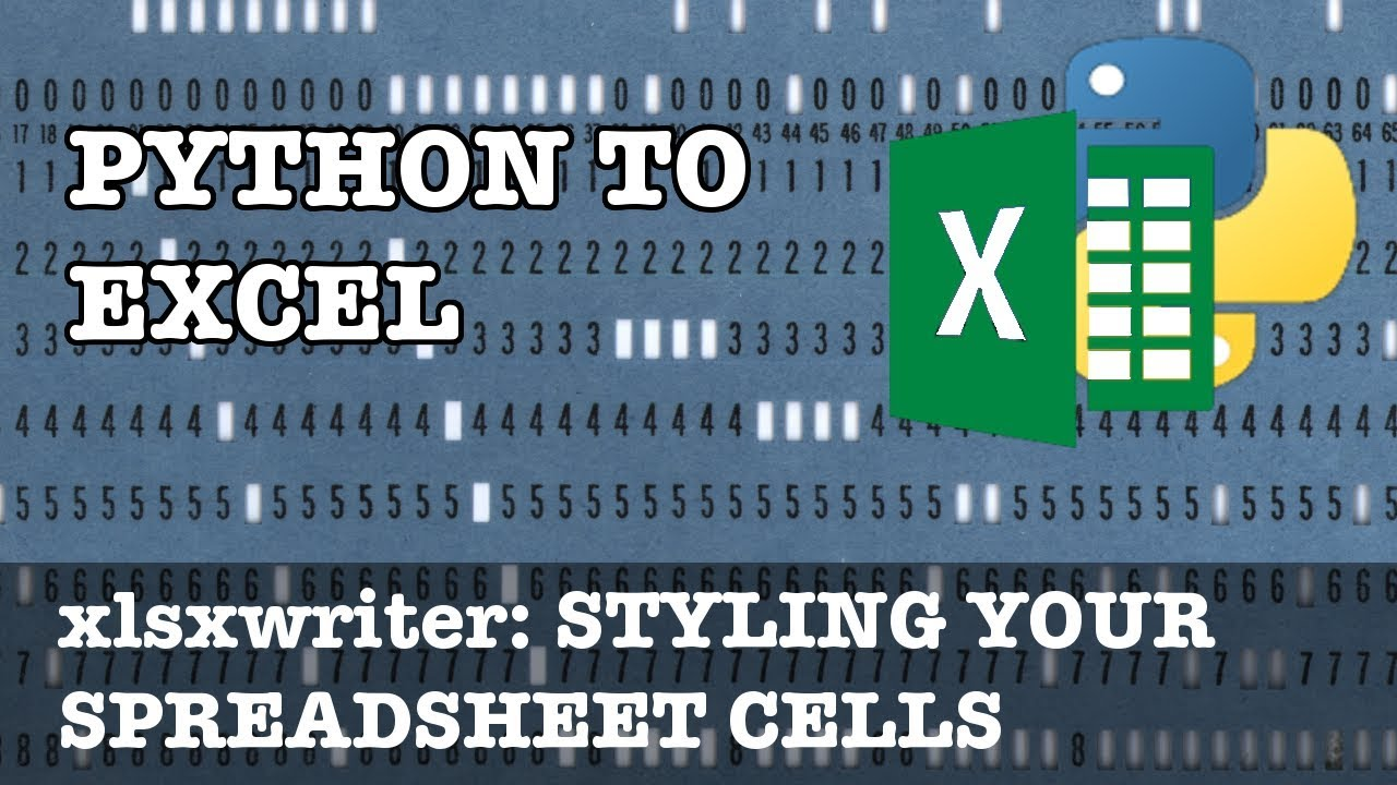 Style your cells in xlsxwriter using formats