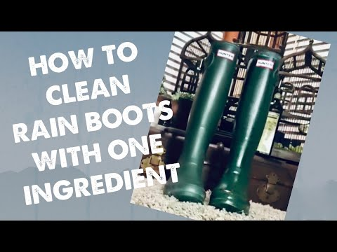 How to clean hunter rain boots with one household ingredient