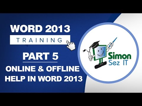 Word 2013 for Beginners Part 5: Using Online and Offline Help for Word 2013