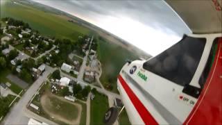 rc plane flight over 1puglife private stunt track in inwoods ontario