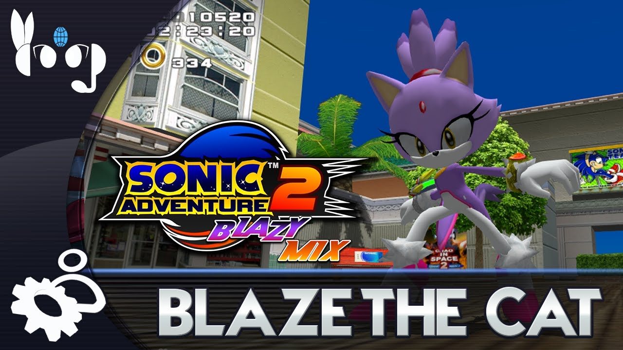 Sonic Adventure 2: Blazy Mix v1 - Play as Blaze the Cat!
