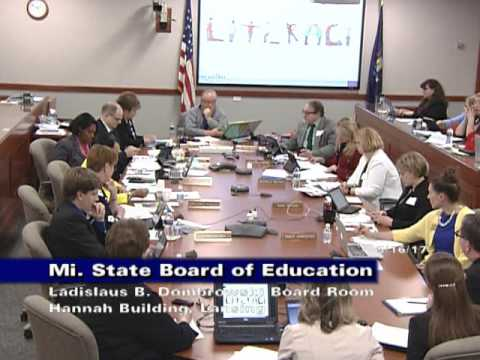 Michigan State Board of Education Meeting for May 16, 2017 - Afternoon Session