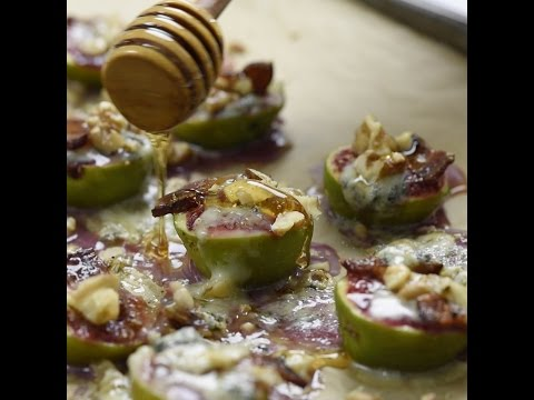 Baked Figs w Bacon, Blue Cheese, and Roasted Nuts