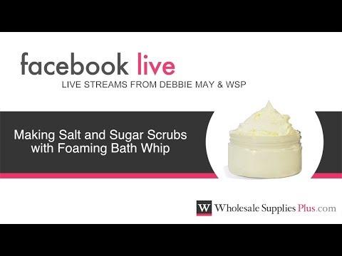 Facebook Live Video Newsletter: Making Salt and Sugar Scrubs