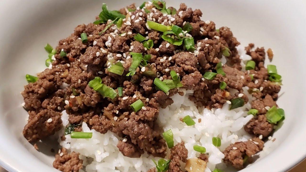 Ground Beef Bulgogi Recipe | Korean Ground Beef Recipe ...