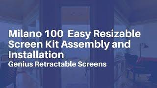 Genius Retractable Screens - Milano 100 Screen Installation Demo
