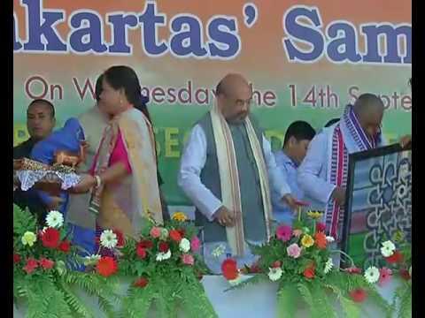 Shri Amit Shah addresses Booth Karyakarta Sammelan in Imphal, Manipur