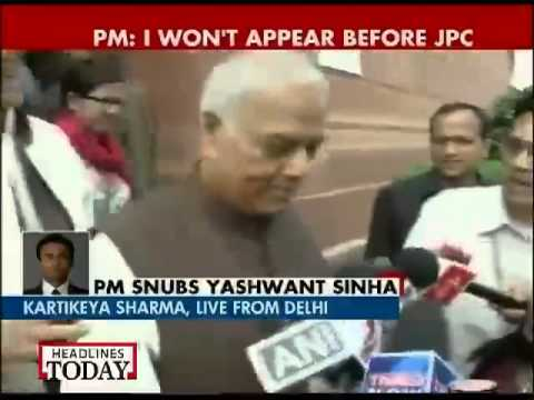 PM snubs Yashwant Sinha, says won't appear before JPC-1