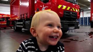 Un bébé chez les sapeurs pompiers de Paris