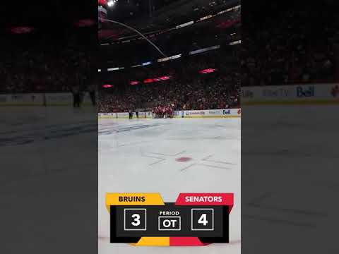 Ottawa Senators OT Win vs Boston Bruins (15/04/17)
