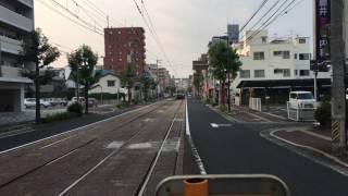 宇品三丁目に着く広電の旧京都市電