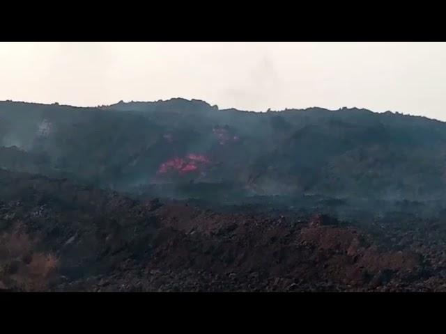 La Lava sigue su camino y deja la zona del valle de Aridane destruida