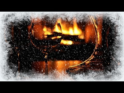 ❅ Cosy Winter Fire and Whistling Wind