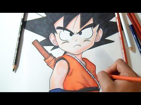 dessin coloriage son goku enfant dragon ball youtube
